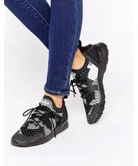 adidas Originals - Prime Knit Zx Flux Adv - Sneakers in Schwarz und Weiß - Schwarz