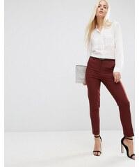 ASOS - Pantalon cigarette avec ceinture - Rouge