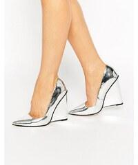 ASOS - PULSE - Chaussures compensées à bout pointu - Argenté