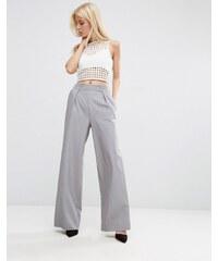 ASOS - Hose mit weitem Bein und Falten - Grau