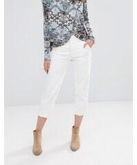 Free People - Jeans mit weitem Bein - Weiß