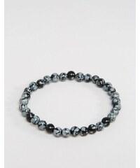 Jack & Jones - Bracelet orné de perles - Gris - Gris