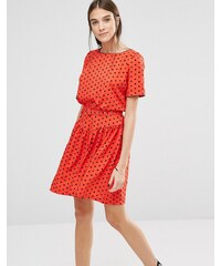 Trollied Dolly - Dead Gorgeous - Gepunktetes Kleid - Rot