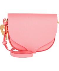 Sophie Hulme Sacs à Bandoulière, Mini Barnsbury Saddle Leather Bright Pink en rouge, rose vif, rose pâle
