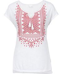 BODYFLIRT MUST-HAVE : T-shirt à imprimé blanc manches courtes femme - bonprix
