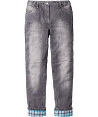John Baner JEANSWEAR Pantalon thermo avec doublure flanelle chaude, T. 116-170 gris enfant - bonprix