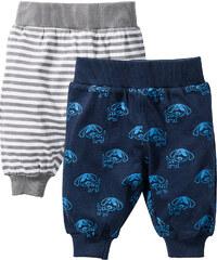 bpc bonprix collection Lot de 2 pantalons bébé en coton bio, T. 56-110 bleu enfant - bonprix