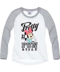 Disney Minnie Langarmshirt weiß in Größe 104 für Mädchen aus 100% Baumwolle Grau: 60% Baumwolle 40% Polyester