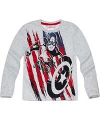 Avengers Assemble Langarmshirt grau in Größe 116 für Jungen aus 60 % Polyester 40 % Baumwolle