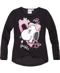 Snoopy Langarmshirt schwarz in Größe 116 für Mädchen aus 100% Baumwolle