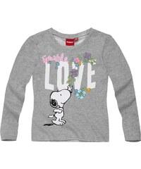 Snoopy Langarmshirt grau in Größe 116 für Mädchen aus 100% Baumwolle Graumelange: 90% Baumwolle 10% Viskose