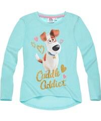 Pets (Secret Life of Pets) Langarmshirt türkis in Größe 104 für Mädchen aus 100% Baumwolle