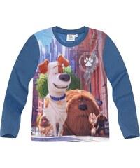 Pets (Secret Life of Pets) Langarmshirt blau in Größe 104 für Jungen aus Vorderseite: 100% Polyester 100% Baumwolle