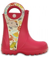 Crocs Handle It Sea Life Rain Boot Raspberry