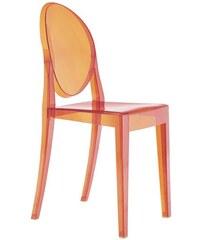 Židle Victoria Ghost od KARTELL (transparentní oranžová)