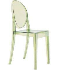 Židle Victoria Ghost od KARTELL (transparentní zelená)