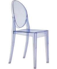 Židle Victoria Ghost od KARTELL (transparentní modrá)