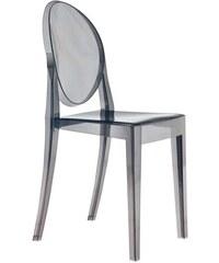 Židle Victoria Ghost od KARTELL (transparentní kouřová)