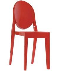 Židle Victoria Ghost od KARTELL (červená)