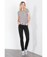 Esprit Sytě černé džíny, zvýšený pas a streč