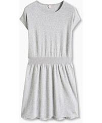Esprit Bavlněné pletené šaty s lesklými kamínky