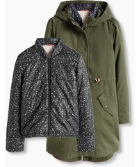 Esprit 2 en 1 : parka en coton et veste matelassée