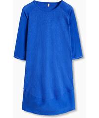 Esprit Bavlněné žerzejové šaty s tkanými detaily