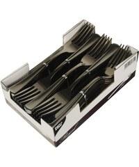 PapStar Plastové stříbrné vidličky, 50 ks