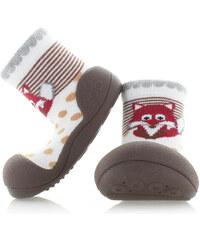Dětské tmavě hnědé boty Attipas Zoo