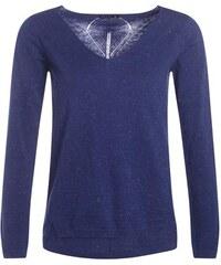 Pull brillant motif géométrique dos Bleu Fil metallise - Femme Taille 1 - Bréal