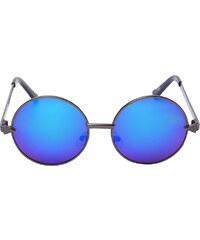 Lesara Runde Sonnenbrille mit verspiegelten Gläsern - Dunkelgrau