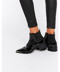 ASOS - ABBIE - Bottines Chelsea pointues - Noir