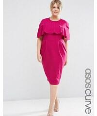 ASOS CURVE - Verführerisches Kleid mit Rüschenärmeln - Violett