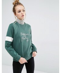 Fred Perry - Bella Freud - Sweat avec logo Reggae Party - Vert