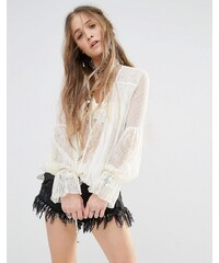 Free People - Far Away - Top - Crème