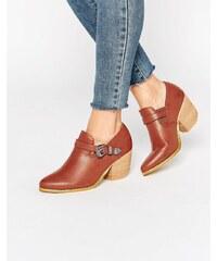 Glamorous - Bottines à talons style western - Rouge