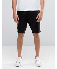 Kubban - Short en jersey à bords bruts - Noir