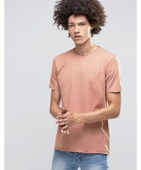 Kubban - T-Shirt mit unversäuberten Kanten - Rosa