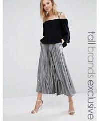 True Decadence Tall - Jupe-culotte plissée de longueur originale - Argenté