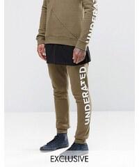 Underated - Pantalon de jogging skinny avec logo sur le côté - Vert