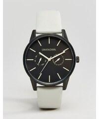 UNKNOWN - Uhr mit grauem Lederarmband, 39mm - Grau