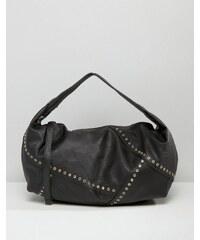 Yoki Fashion - Sac porté épaule avec œillets - Noir