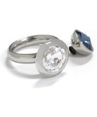 qudo Ring mit 2 Aufsätzen mit Swarovski® Kristallen (Set, 3 tlg.), »Famosa, O600001-O600006«