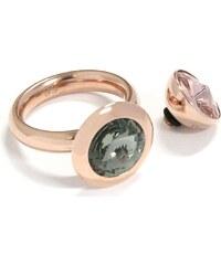 qudo Ring mit 2 Aufsätzen, mit Swarovski® Kristallen (Set, 3 tlg.), »Famosa, O600007-O6000012«