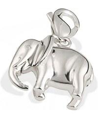 Averdin Charm Sterlingsilber 925 Elefant hochglanzpoliert plastisch