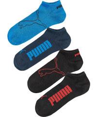Puma Füßlinge (4er-Pack) in schwarz von bonprix
