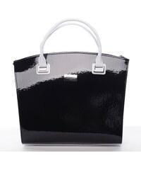 Maggio Luxusní dámská kabelka Sierra, černo-bílá mat-lak