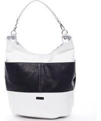 Laura Biaggi Stylová dámská kabelka přes rameno Sophie, černo-bílá