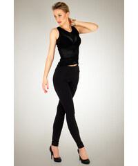 Legíny Lumide Exclusive Wear s vysokým zeštíhlujícím pasem barva černá M 9eb0e6df21