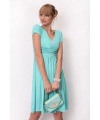 Oxyd Delší vycházkové šaty s krátkým rukávem barva mátová S M 8b22f6312b